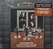 NEW/SEALED Jethro Tull BENEFIT  (1) DVD & (2) CD SET STEVEN WILSON COLLECTORS ED