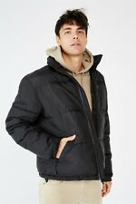 Cotton On Mens Recycled Puffer Jacket Jackets  In  Black