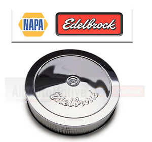 "Air Intake Kit NAPA BALKAMP Edelbrock  3.75"" Chrome"