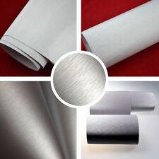 (6,57?/m²) Aluminium gebürstet SILBER 1m x1,52m Auto Folie BLASENFREI Edelstahl