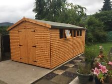 16x10 HEAVY DUTY APEX SHED - 22mm Barrel Board T/G, WORKSHOP