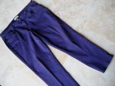 "Women~EARL JEAN~Dark-PURPLE Cotton denim pant/slack size 14P L-XL  waist:36 1/2"""