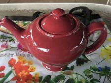 HALL POTTERY McCORMICK BURGUNDY TEA POT