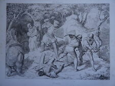 Ludwig HAACH 1813-1842 GRAVURE FRIEDRICH WARTBURG Thüringen RADIERUNG ROMANTISME