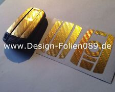 Carbon Chrome Gold Key Film BMW