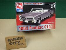 Pair AMT 1965 Pontiac GTO convertibles+parts 1/25 scale model kits