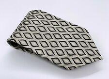 Fratelli Moda Tie Black White Silver Polka Dot Tie Silk 60 x 3.75 Italy 1900 Tie