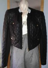 BEBE Black QUILTED Leather Bolero R$250 L