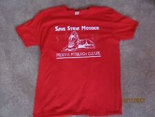 Save The Syria Mosque Preserve Pittsburgh Culture Red Men's Size XL Shirt Histor