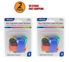 2 Pack - Key Tags With Label Window Help you stay organize Brand New (8/Pack)