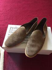 Pedro Garcia 'Yara' Neutral Suede Flat Shoe Size 39 Worn Once RRP £269