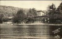 Fairlee VT Lake Morey Inn Richardson Real Photo Postcard #920