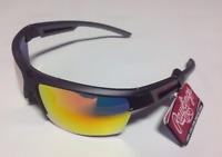 Rawlings 26 Men's Wrap Adult Sport Sunglasses Baseball Grey/Orange
