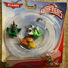 Disney Planes Micro Drifters 3 Pack ZED, RIPSLINGER, ISHANI Rare