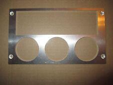Ford Mustang 87-93 radio triple gauge panel for 2 1/16 inch gauges ALUMINUM