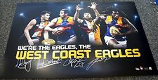 WEST COAST EAGLES FOOTBALL CLUB AFL 4 FOUR PLAYER PRINT ONLY - DARLING NAITANUI
