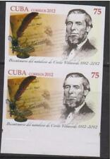 Ro) 2012 Imperforate, Bicentennial Birthday-Writer Cirilo Villaverde, First Day