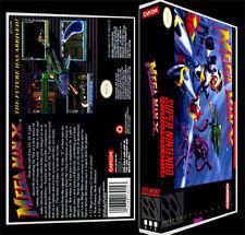 Mega Man X - SNES Reproduction Art Case/Box No Game.