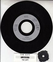 "INXS  The Gift 7"" 45 rpm vinyl record + juke box title strip RARE!"