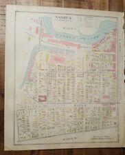Antigüedad Mapa - 2 De Nashua - Hillsborough Condado -Nuevo Hampshire- 1892