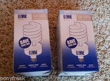 2 Ozone Lite Air Purifier Light Bulb NEW Eliminate Odor Smoke Kill Bacteria TIO2