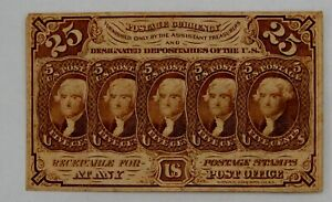 25 Cent Fractional Currency 1st Issue Fr. 1281 Thomas Jefferson