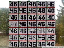 3x Wunsch - Startnummer - Auto Motorrad-Aufkleber - Nr.+Farbe+Größe+Design ausw.