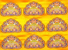 FACE OF GLORY! 16X24CM TIBETAN BROCADE QUILT BLOCK PILLOW COVER KIRTTIMUKHA LION
