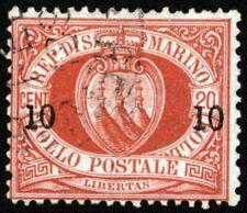 San Marino 1895 Surcharge 10c on 20c , SC 28 , Used