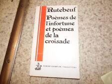 1979.Poèmes infortune et croisade.Moyen age.Rutebeuf.Dufournet (envoi)