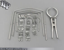 Basic Rubber Dam Clamps 18 Pieces Composit Filling Dental Instruments Set