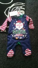Bebé Navidad bebé crezca Talla 0-3 meses (azul)
