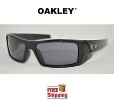OAKLEY® SUNGLASSES GASCAN® GAS CAN GLOSS POLISHED BLACK FRAME W/ GREY TINT NEW