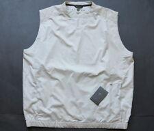 Nike Golf Pullover Vest L V-Neck Sleeveless Beige Windbraker Sweater New