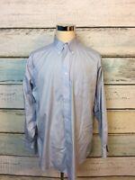 Brooks Brothers Classic Button Down Shirt No-Iron, Size 16.5 - 35, Lt Blue  EUC