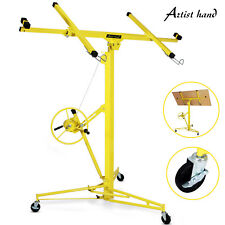16-19' Drywall Panel Lifter Hoist Jack Rolling Caster Lockable Tool - Yellow