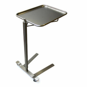 """Stainless Steel Thumb Controlled Mayo Stand 16 1/4"""" x 21 1/4"""" Tray Size MCM761"""