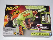 Nerf N-Strike Rayven CS-18 Glow Semi Auto Dart Blaster Opened Box NEW