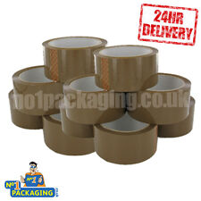 288 ROLLS QUALITY STRONG BUFF BROWN PARCEL PACKING PACKAGING TAPE 48mm x 66M