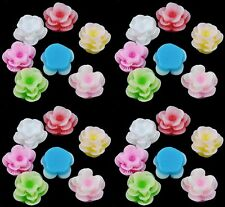 20 x Flower Resin Flat Back Cabochon 13mm x 8mm - Various Colours - CAB14