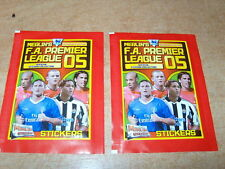 MERLIN Style PANINI F.A. PREMIER LEAGUE 2005 2 X PACKET