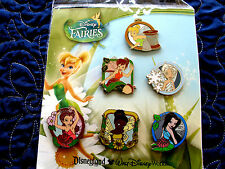 Disney * FAIRIES * 6 Pin Booster Set New In Pack * RETIRED Tinker Bell & Friends