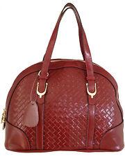 Aubree Bouillon -- Women's Red Leather Handbag