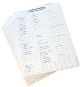 Notizblock Einkauf - Einkaufsnotiz - Blocks Einkauf DIN A5 (22213)