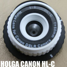 LOMO Holga style HLC 60mm Lens Black corner For canon Digital film camera white