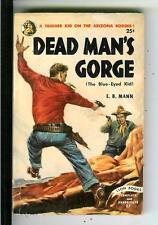 DEAD MAN'S GORGE by EB Mann, rare US Lion #27 pulp western vintage pb
