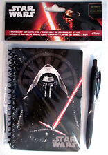 STAR WARS Episode VII Force Awakens Stationery Set & Pen FREE First Class Ship !
