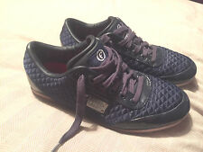 Men's Firetrap Trainers Blue Quilted Great Condition UK Size 5 Plenty Life In