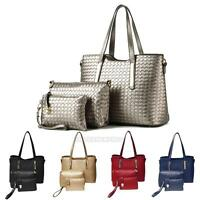 3Pcs/4Pcs Women Bag Luxury PU Leather Handbag Shoulder Message Bag Tote Purse