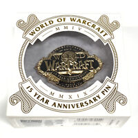 World Of Warcraft 15th Anniversary Pin Limited Edition 2500 Blizzcon SDCC WoW 15